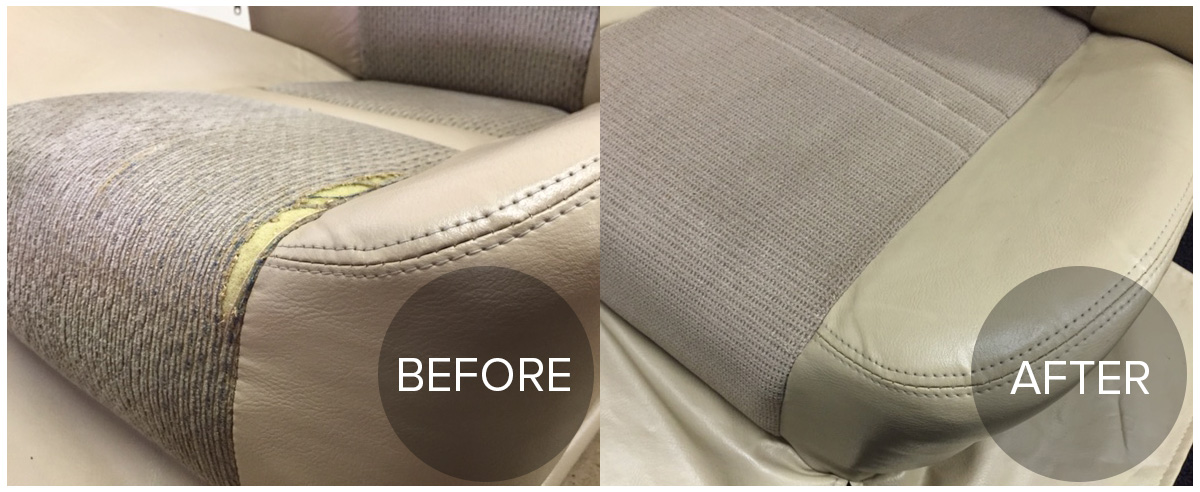 Before And After Auto Upholstery Parksville Qualicum Nanaimo